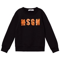 MSGM Black Beaded Logo Sweatshirt 110