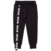 MSGM Black Logo Detail Sweatpants 110