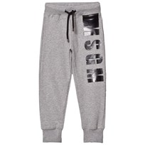 MSGM Grey Branded Sweat Pants 101