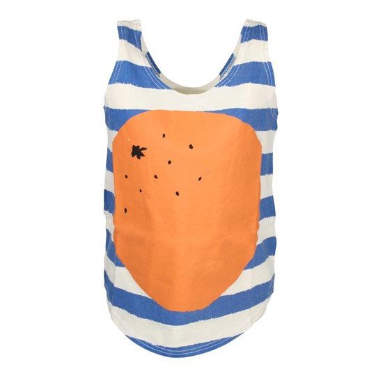 Bobo Choses T-Shirt Sleeveless Orange Blue
