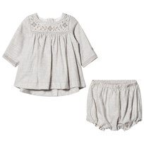 Petit Bateau Dress Bloomers Grey Black