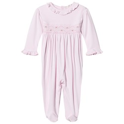 Kissy Kissy Pink Rose Smocked Frill One-Piece