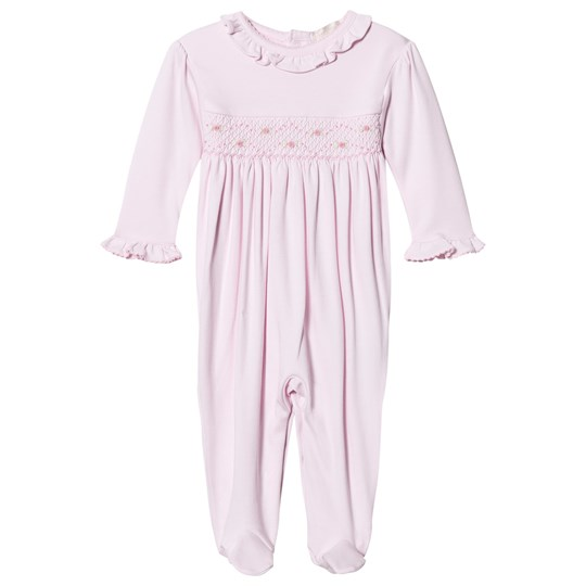 Kissy Kissy Pink Rose Smocked Frill One-Piece PK