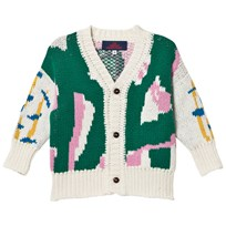 The Animals Observatory Peasant Kids Cardigan Green Grass Green Grass