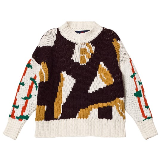 The Animals Observatory Bull Kids Sweater Deep Brown Deep Brown