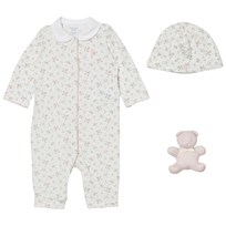 Ralph Lauren Pink Floral Baby One-Piece Gift Set 001