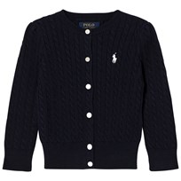 Ralph Lauren Navy Mini Cable Long Sleeve Cardigan 011