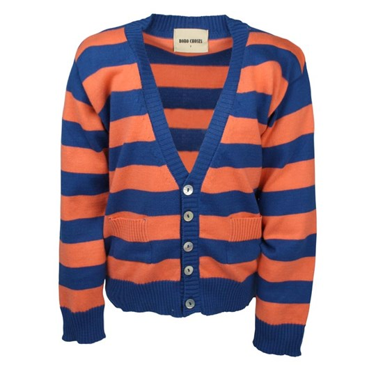Bobo Choses Knitted Jacket Stripes Orange Orange