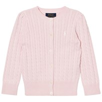 Ralph Lauren Pink Mini Cable Long Sleeve Cardigan 010