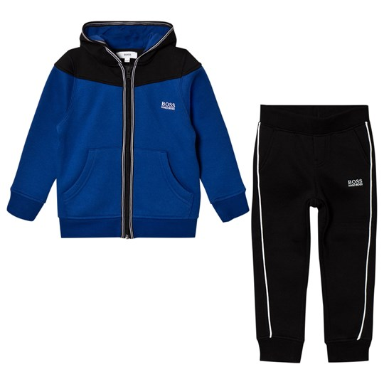 BOSS Blue and Black Branded Tracksuit 865