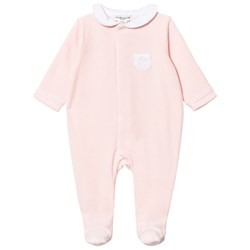 Cyrillus Pale Pink Velour Footed Baby Body