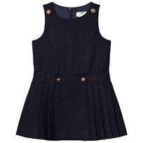 Cyrillus Navy Pleated Sleeveless Dress 6399