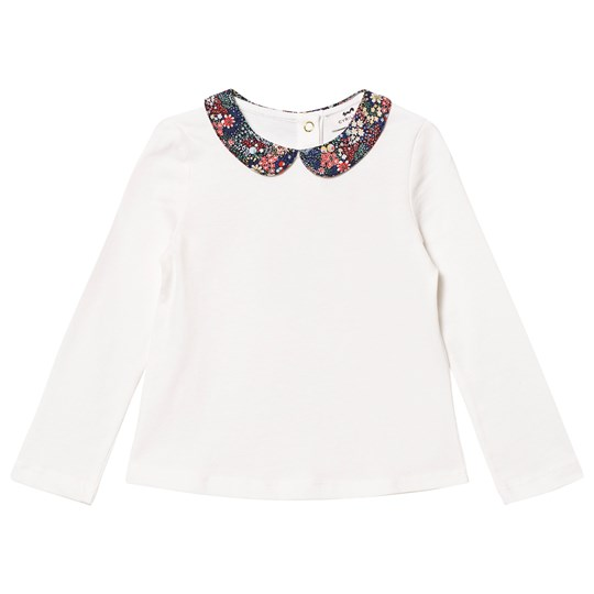 Cyrillus Off-White Long Sleeve Tee with Liberty Collar 6350