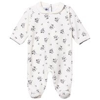 Petit Bateau Footed Baby Body Creme White