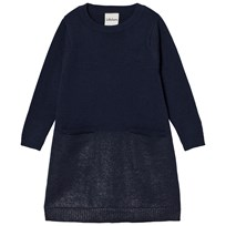Lillelam Merino Wool Sparkling Dress Blue Sparkling blå