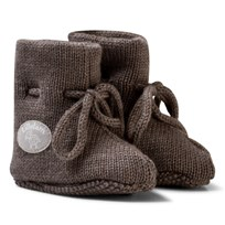 Lillelam Merino Wool Baby Slippers Basic Brown Brun