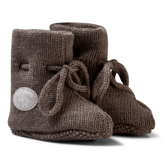 Lillelam Merino Wool Baby Slippers Basic Brown коричневый