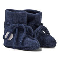 Lillelam Merino Wool Baby Slippers Basic Blue Blå