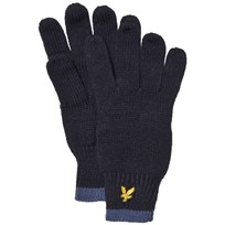Lyle & Scott Navy Knitted Gloves Deep Indigo