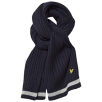 Lyle & Scott Navy Knitted Scarf Deep Indigo