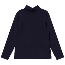 Cyrillus Navy Long Sleeve Polo Neck Tee
