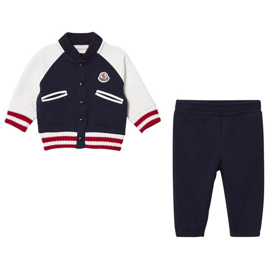 Moncler Boys Set Cardigan and Pant Navy Marinblå