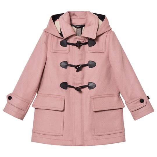 Burberry Mini Burwood Wool Duffle Coat Pale Pink Pale Rose