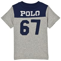 Ralph Lauren Grey/Navy Polo Tee 003