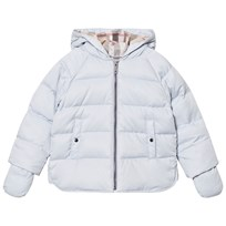 Burberry Rilla Down Hooded Puffer Jacket Ice Blue Pink