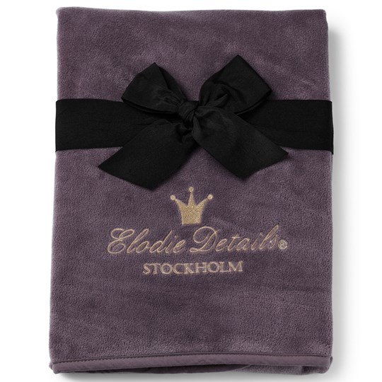 Elodie Pearl Velvet Blanket Plum Love Purple