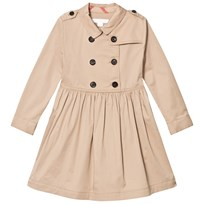 Burberry Beige Lillyana Long Sleeve Trench Dress Honey