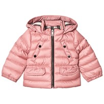 Burberry Pink Mini Bronwyn Padded Down Hooded Coat Pale Rose