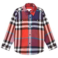 Burberry Orange and Red Mini Fred Check Shirt ORANGE RED