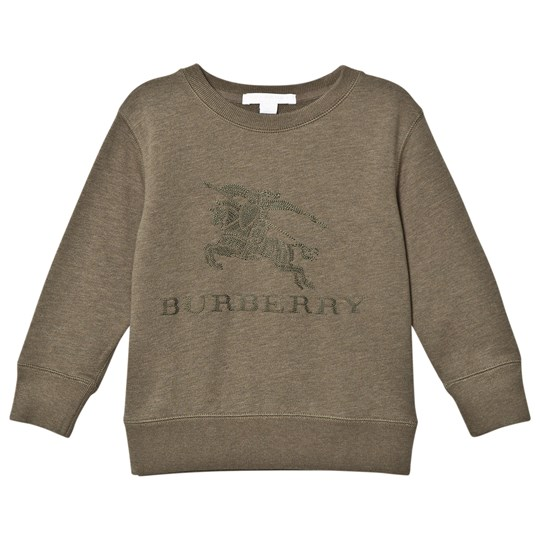 Burberry Khaki Green Knight Embroidered Sweatshirt KHAKI GREEN MELANGE