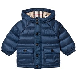 Burberry Ink Blue Mini Lachlan Down Puffer Jacket
