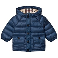 Burberry Ink Blue Mini Lachlan Down Puffer Jacket Ink Blue