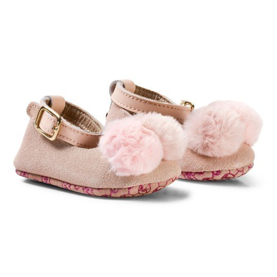 Michael Kors Rose Gold Zia Baby Day Crib Shoes Rose Gold