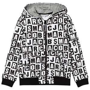 Image of Little Marc Jacobs Black and White All Over Branded Hoody 8 years (2743716307)