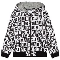 Little Marc Jacobs Black and White All Over Branded Hoody M41