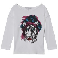 Little Marc Jacobs White Tiger Print Tee 10B