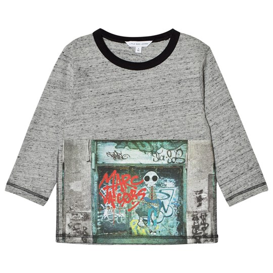 Little Marc Jacobs Grey Marl Mr. Marc Graffiti Print Tee A35