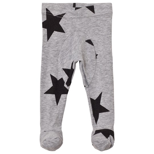 NUNUNU Star Footie Leggings Heather Grey Heather Grey