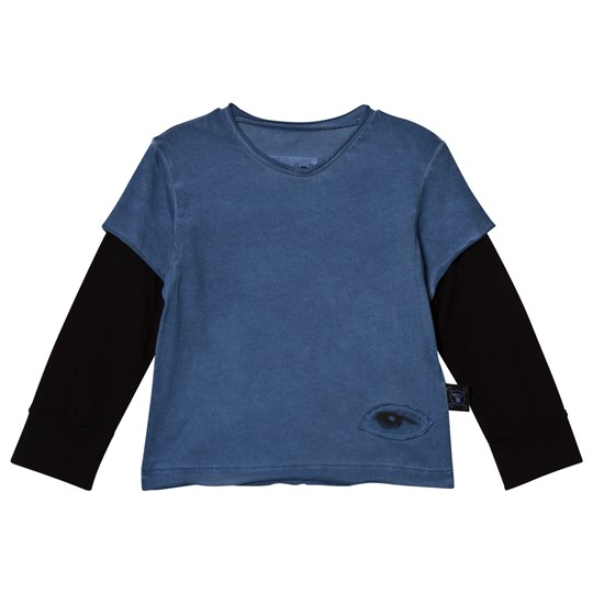 NUNUNU Tiny Eye Patch T-Shirt Dirty Blue Dirty Blue