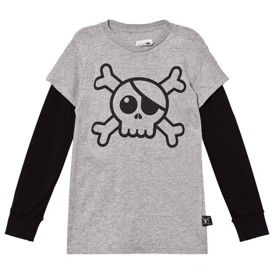 NUNUNU Skull T-Shirt Heather Grey Grey
