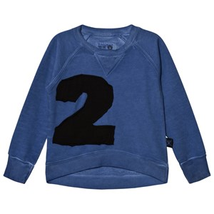 NUNUNU Puffy Numbered Sweatshirt Dirty Blue 3-4 år