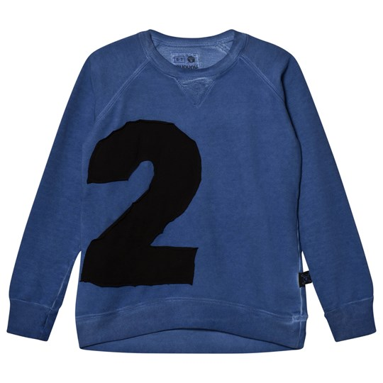 NUNUNU Puffy Numbered Sweatshirt Dirty Blue Dirty Blue