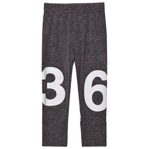 Image of NUNUNU Numbered Leggings Charcoal 0-6 mdr (2743772385)
