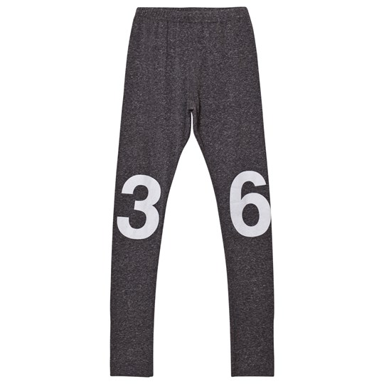 NUNUNU Numbered Leggings Charcoal