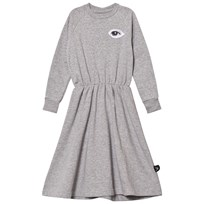 NUNUNU French Terry Maxi Dress Heather Grey Grey