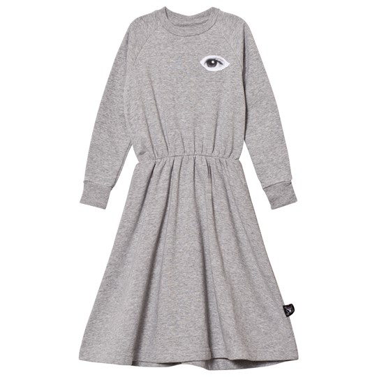 NUNUNU French Terry Maxi Dress Heather Grey Heather Grey